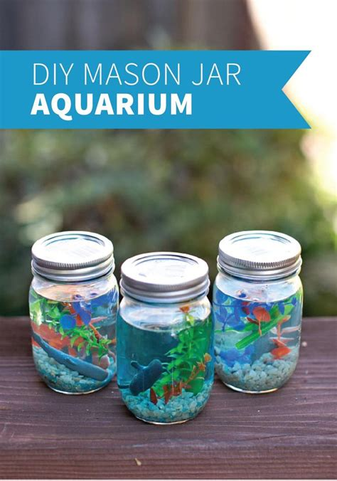 diy projects for kids diy mason jar aquarium kids will love to help make these