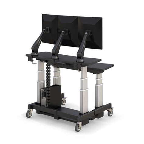 Sit Stand Computer Desk Ergonomic Two Tier Sit Stand Workstation Afcindustries