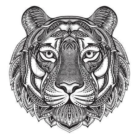 tiger mandala coloring pages mandala animals graphic ornate tiger with