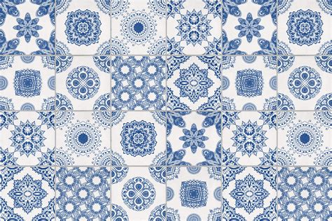 Bathroom Designs by White And Blue Portuguese Tiled Wallpaper Murals Wallpaper