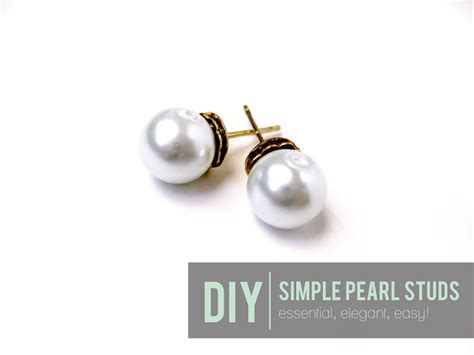 how to make sted jewelry diy pearl earring tutorials for 2015 styles weekly