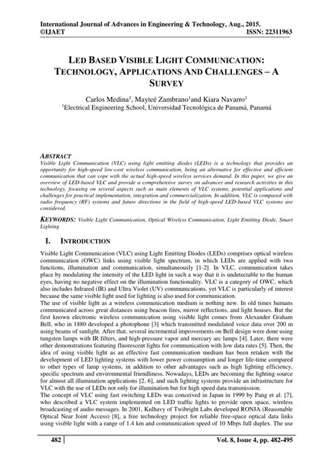 research paper on visible light communication led based visible light communication pdf