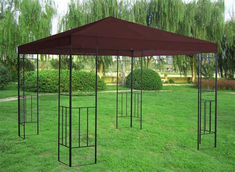 sun gazebo 3x3m metal gazebo pavilion canopy sun shade shelter