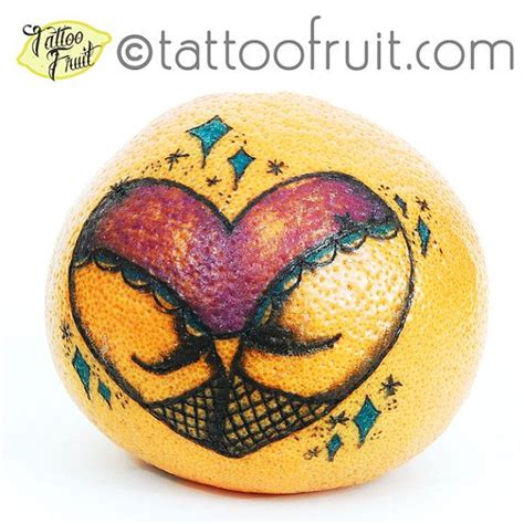 heart butt tattoo 8x10 lovely tattooed grapefruit print by