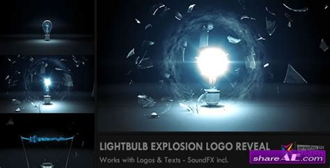 after effects templates free light bulb light bulb explosion logo reveal after effects project