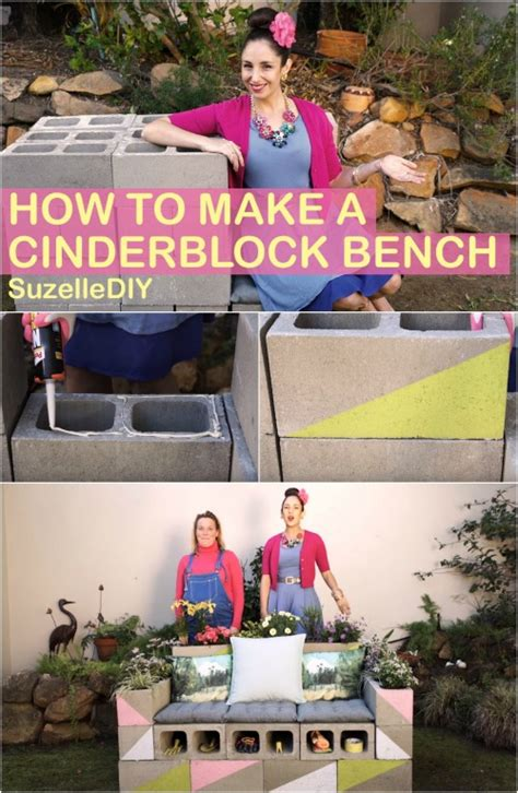how to build a bench out of cinder blocks how to build a beautiful multifunctional bench out of