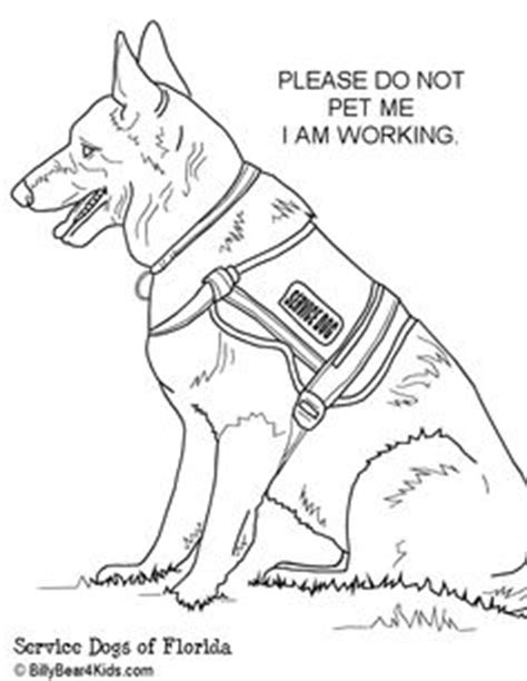 coloring pages of police dogs 1000 images about service dogs on pinterest service