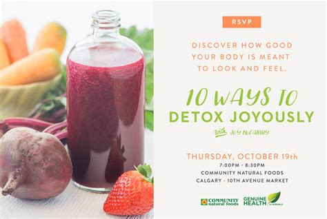 Joyous Health Detox by 10 Ways To Detox Joyously Community Foods