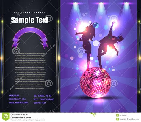 Party Brochure Flyer Vector Template Royalty Free Stock Photo Image 28193985 Royalty Free Flyer Templates