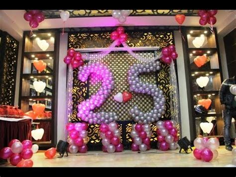 25th Happy Anniversary Balloon Decoration   YouTube