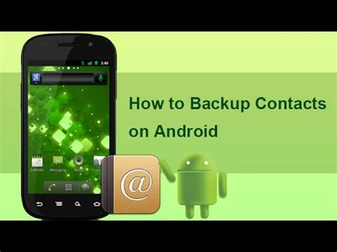 how to backup contacts on android how to backup contacts on android
