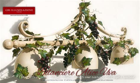 Country style kitchen   Grape light island pendant  GBS