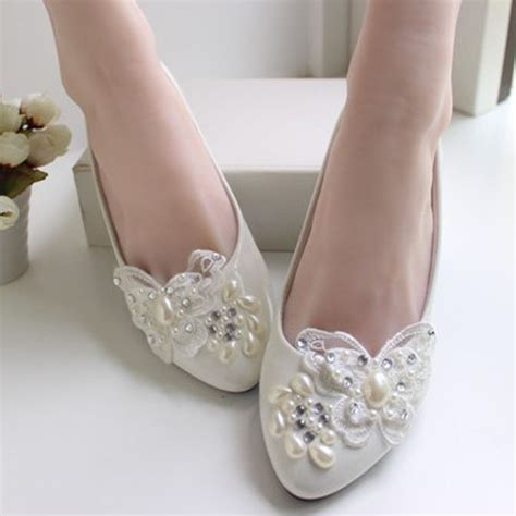 white lace ballet flat wedding shoes low heel white lace wedding shoes bridal handmade