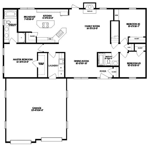 Linden Floor Plan by Linden Modular Home Floor Plan