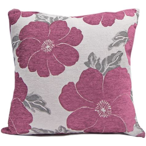 sofa scatter cushions chenille poppy cushions large small floral sofa bed