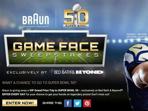 Game Face Sweepstakes - braun game face sweepstakes