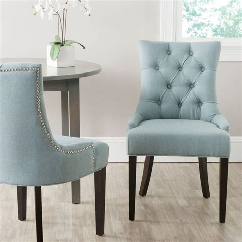 sky blue chair safavieh abby sky blue linen blend side chair set of 2
