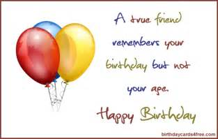 birthday cards for friends a true friend remembers