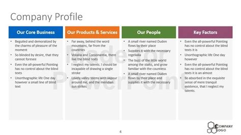 template for business profile company profile templates newblogmap