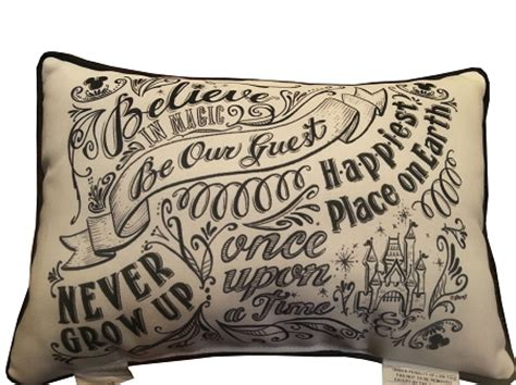 Disney Be Our Guest Pillow by Disney Throw Pillow Be Our Guest Chalkboard