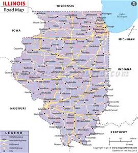 illinois road map road map of illinois