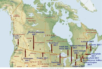 map of united states and canada border this is a map of all ibet integrated border enforcement