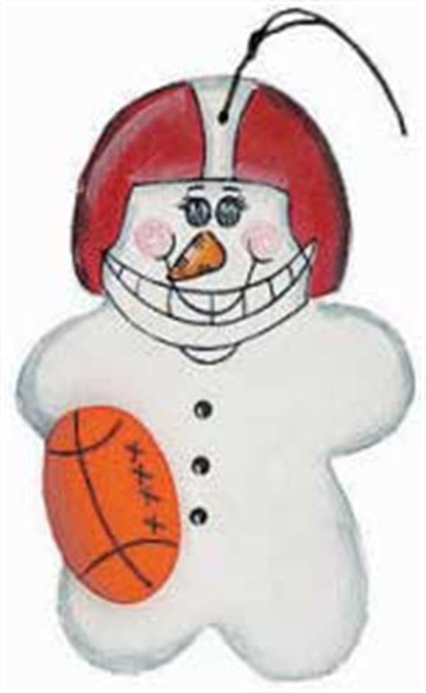 football snowman wood ornament sports and cheerleading