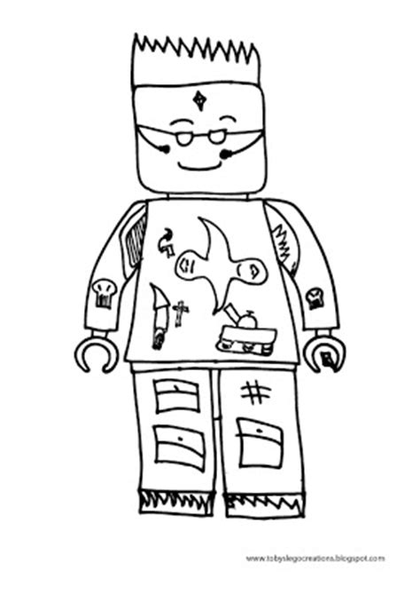 lego agents coloring pages toby s lego creations agent lego minifigure colour in