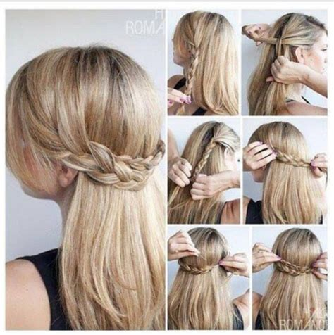 easiest type of diy hair braiding cute updos for long hair hair tutorial braid easy hair
