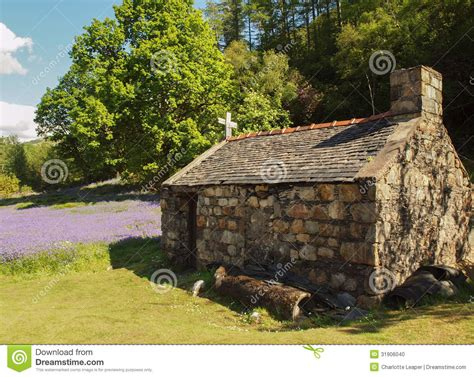 House Plans For Small Cabins old stone cottage outhouse in field stock photo image