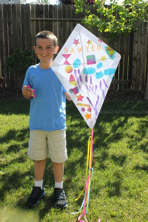 How To Make Paper Kites For Preschoolers - craft diy paper kite happiness is