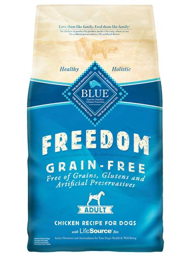 puppy food without chicken blue freedom 174 food grain free chicken recipe blue buffalo