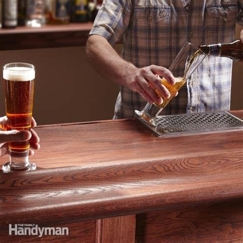 build a bar top how to build a bar the family handyman