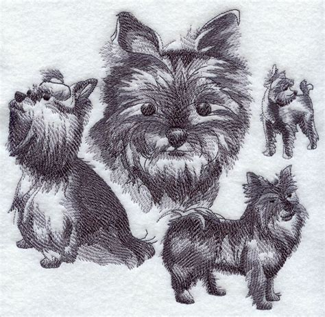 yorkie sketch machine embroidery designs at embroidery library embroidery library
