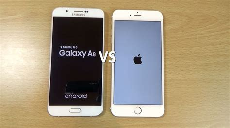 Samsung A8 Vs Iphone 5s samsung galaxy a8 vs apple iphone 6 speed test
