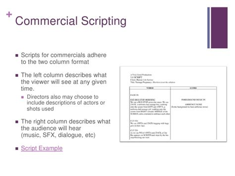 tv commercial template pin exle tv commercial script on