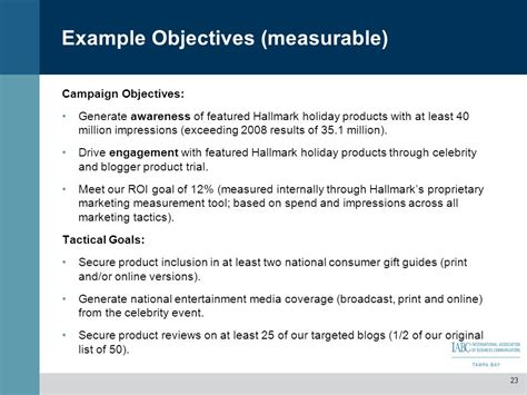 measurable goals and objectives template presenter adrienne schutte ppt