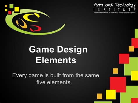 game design terms elements of game design
