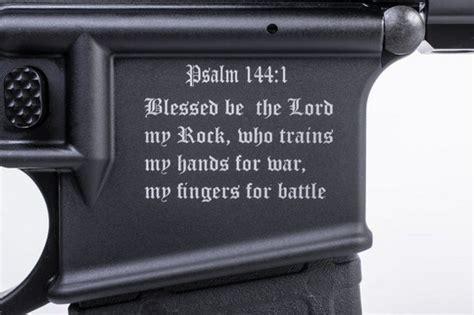 Antifa Sticker Whatsapp by Un Fusil D Assaut Anti Musulman Avec Un Verset De La Bible