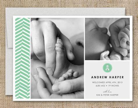modern birth announcements by simple te design