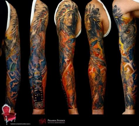 tattoo needles online india fire indian war tattoo sleeve by piranha tattoo supplies