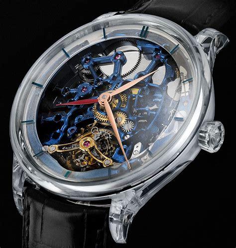 Harga Special Skeleton 2 Silver h moser cie s new venturer tourbillon dual time sapphire blue skeleton
