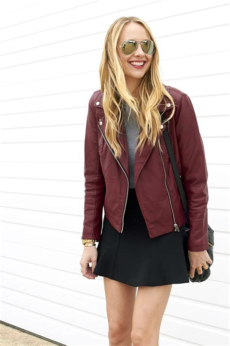 moto style jacket burgundy moto jacket fashion jackson