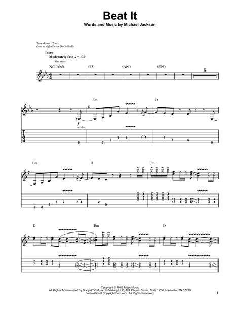 we can t be beaten guitar tab by rose tattoo guitar tab beat it by michael jackson guitar tab play along