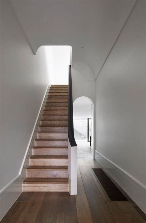Narrow Staircase Design Modern Gets Addition And Renovation Canterbury And Architecture