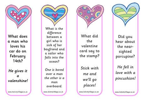 riddles for valentines day valentines jokes bookmarks 2