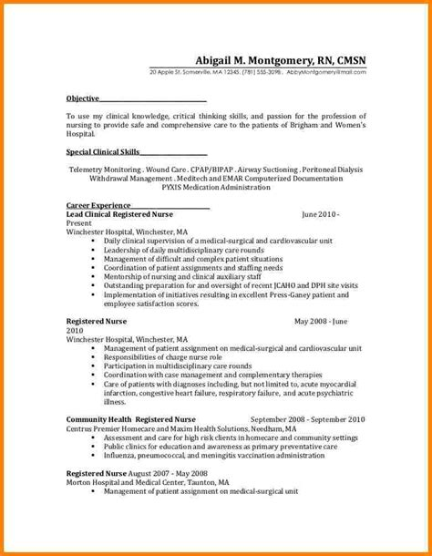 Rn Resume Skills Exles 5 Rn Resume Med Surg Sle Inventory Count Sheet