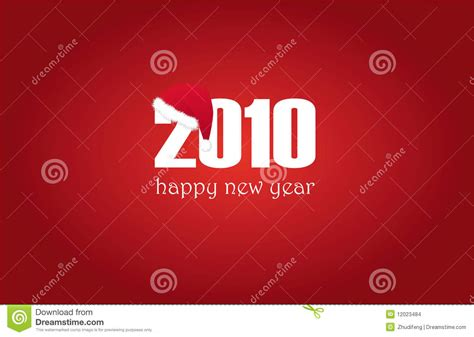 happy new year 2010 happy new year 2010 with cap stock images image 12023484
