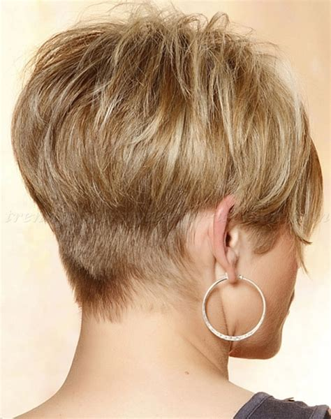 2015 angeled wedge hair very short inverted bob haircut pictures for women over 50