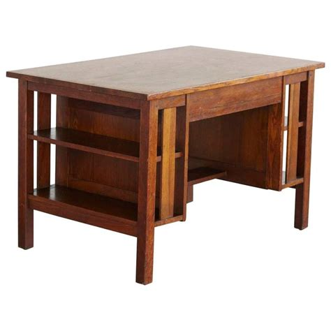 Library Desk L by Arts And Crafts Mission Style Oak Library Table 2 From The